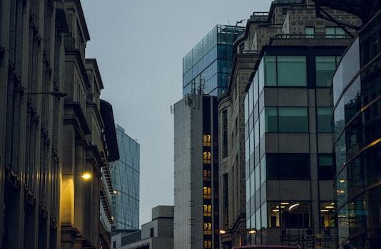 Free stock photo of light, city, sky, skyline