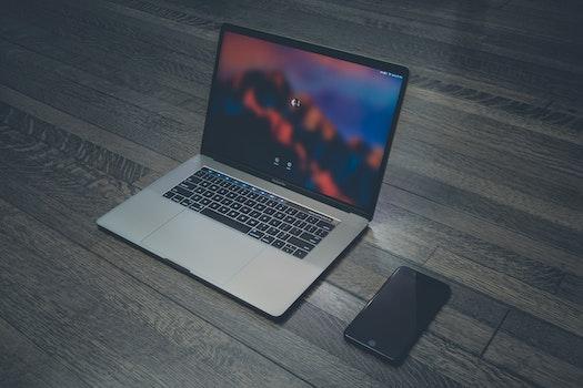 Free stock photo of wood, marketing, smartphone, laptop