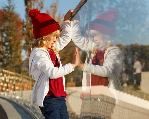 Girl Wearing Red Beanie