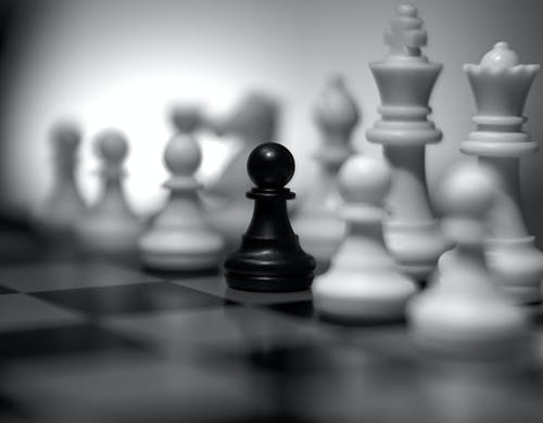Free stock photo of art, black and white, chess, game