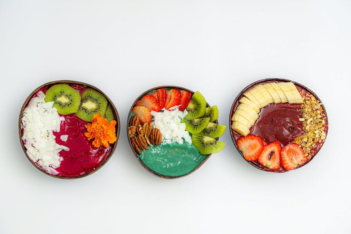 Three Bowls of Fruit