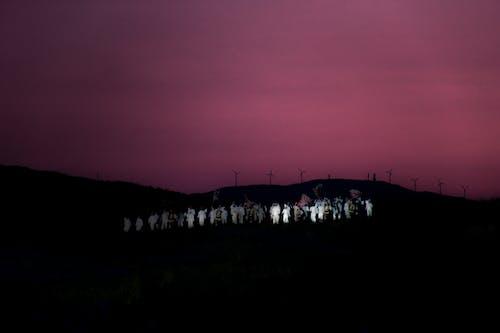剪影, 美丽的夕阳, 落日的天空, 音樂會 的 免费素材照片
