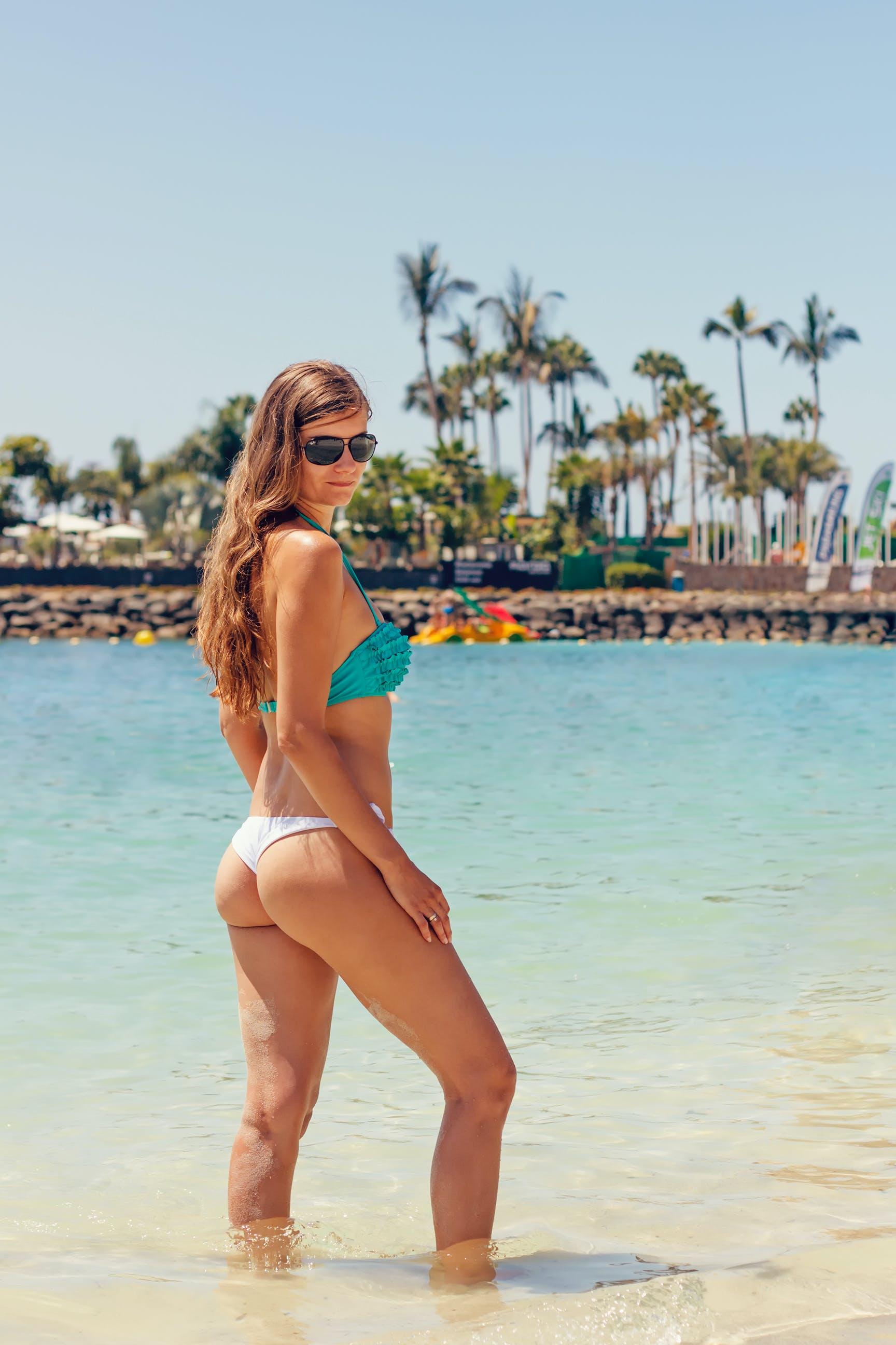 Free stock photo of beach, bikini, female, ocean