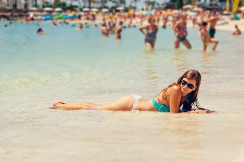 Imagine de stoc gratuită din agrement, apă, baie de soare, bikini