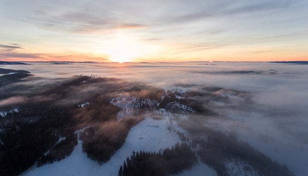 Kostenloses Stock Foto zu klima, kalt, dämmerung, landschaft
