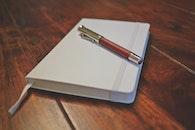 wood, desk, notebook