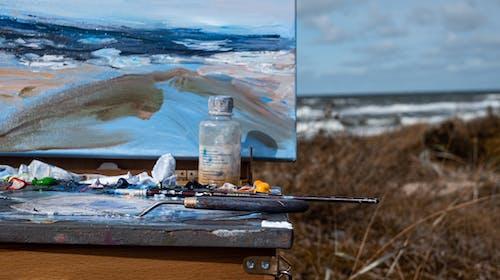 Gratis lagerfoto af abstrakt oliemaleri, hav, kunst, natur