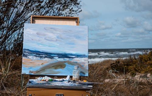 Gratis lagerfoto af abstrakt oliemaleri, hav, natur