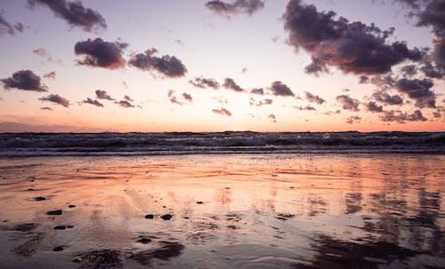 Gratis lagerfoto af hav, natur, solnedgang