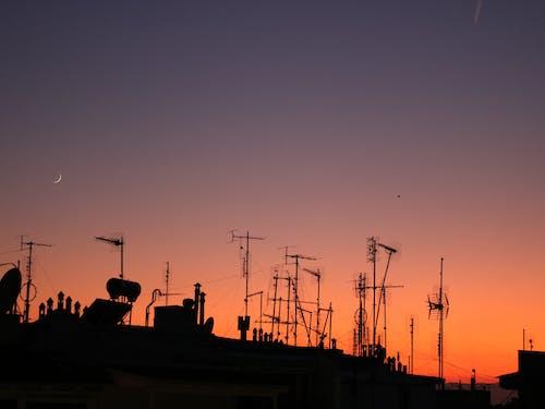 半月, 抽象, 日落, 黃金時段 的 免费素材照片