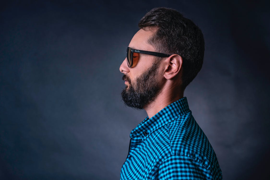 Man Wearing Checkered Shirt