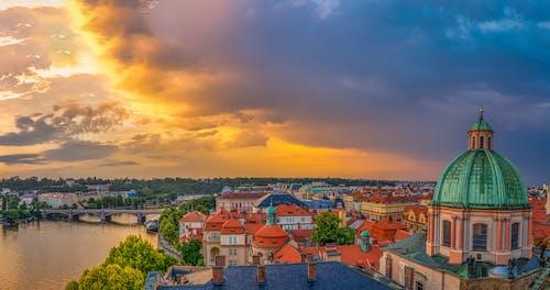 Photos gratuites de architecture, cathédrale, ciel, coucher de soleil