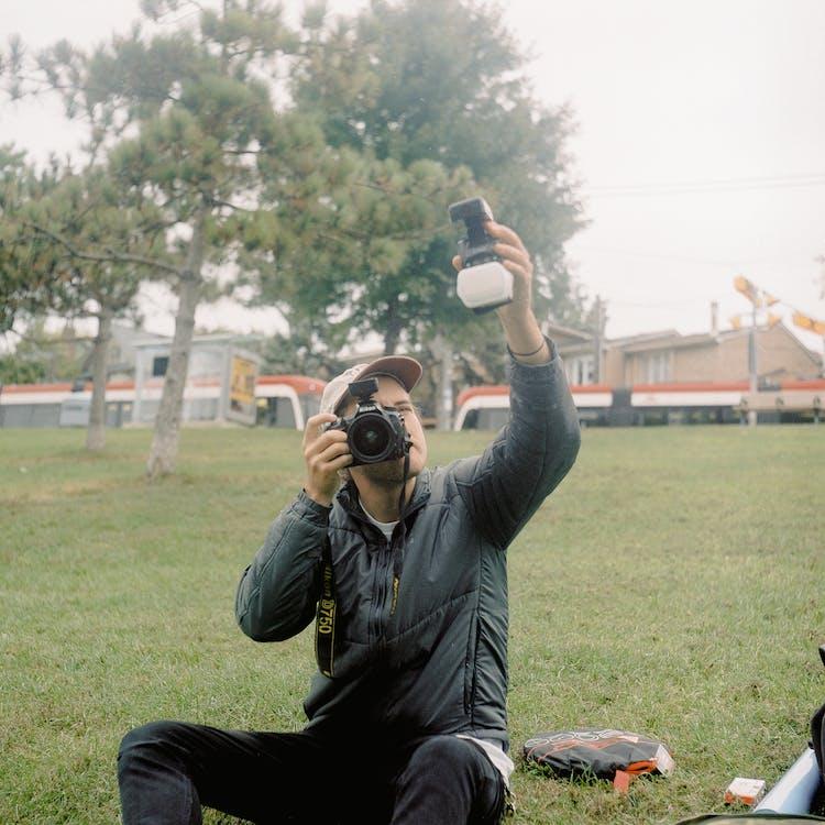 fényképezőgép, fényképezőkészlet, Férfi