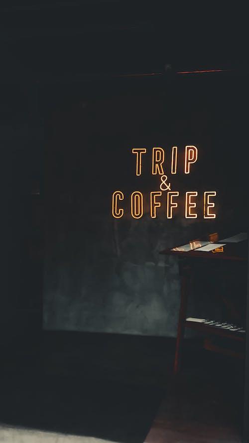 คลังภาพถ่ายฟรี ของ กาแฟ, ข้อความ, คาเฟ่, นีออน