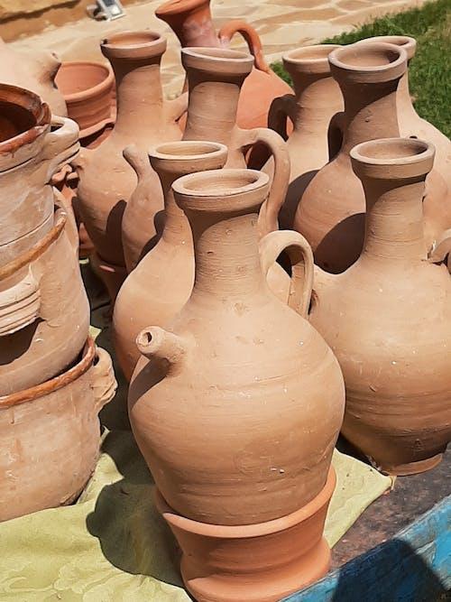 Základová fotografie zdarma na téma fukhar, hlína, hliněné hrnce, hliněné nádoby