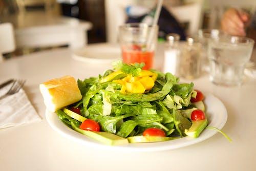 Green Vegetables on White Plate