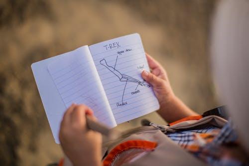 Foto profissional grátis de aprendendo, aprender, borrão, caderno