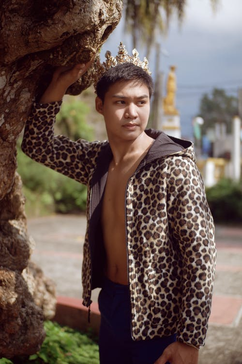 Photo of Man Leopard Print Jacket