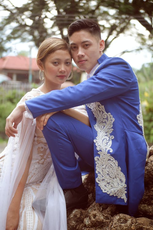 asiatiske mennesker, brud, Brud og brudgom