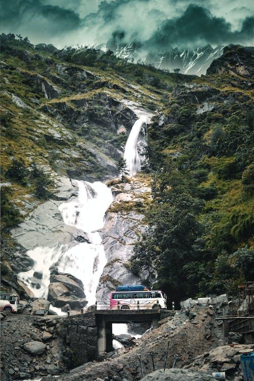 Free stock photo of waterfall nepal