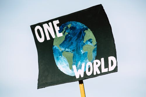 Free stock photo of activist, banner, blue, climate activist