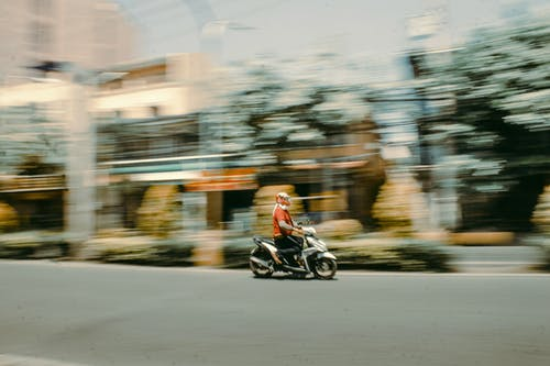 Running Motorcycle on Road