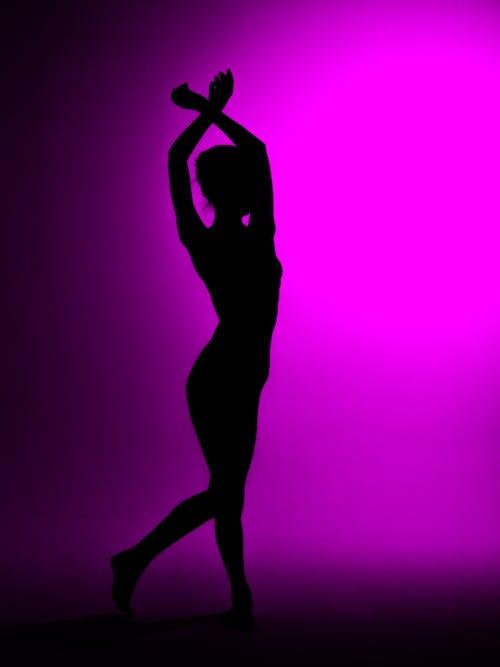 balerin, balet, gölge, siluet içeren Ücretsiz stok fotoğraf