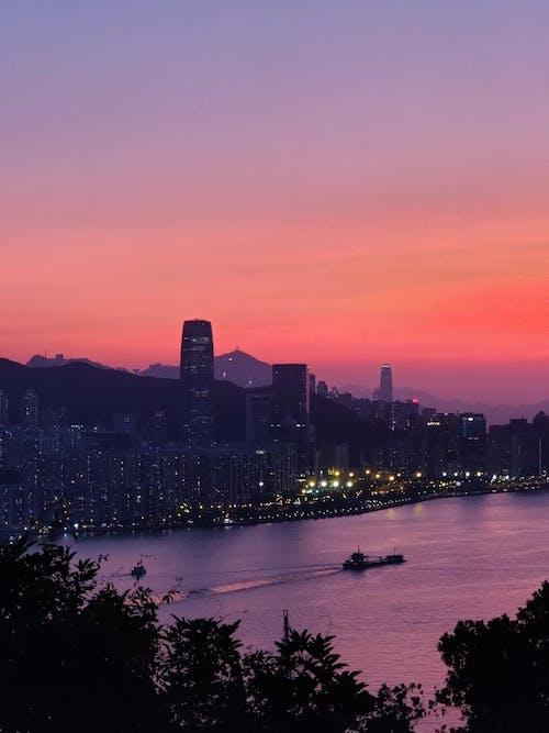 Δωρεάν στοκ φωτογραφιών με hk, αντανάκλαση, απόγευμα, αρχιτεκτονική