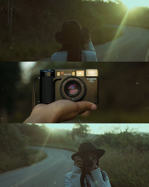 Gratis lagerfoto af analogt kamera, kamera, kvinde, person