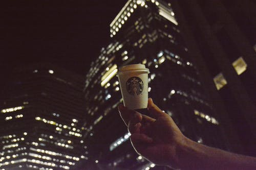 Free stock photo of arm, city, coffee, evening