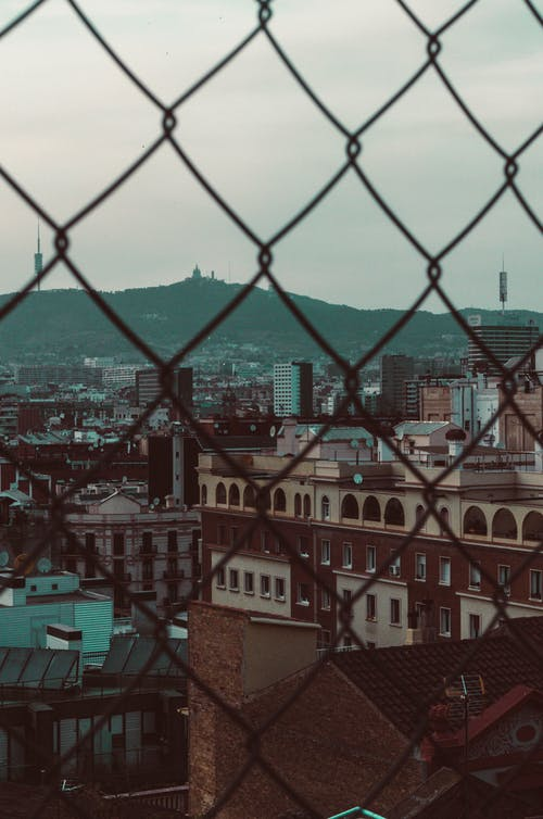 Free stock photo of barcelona, buildings, colors, fence