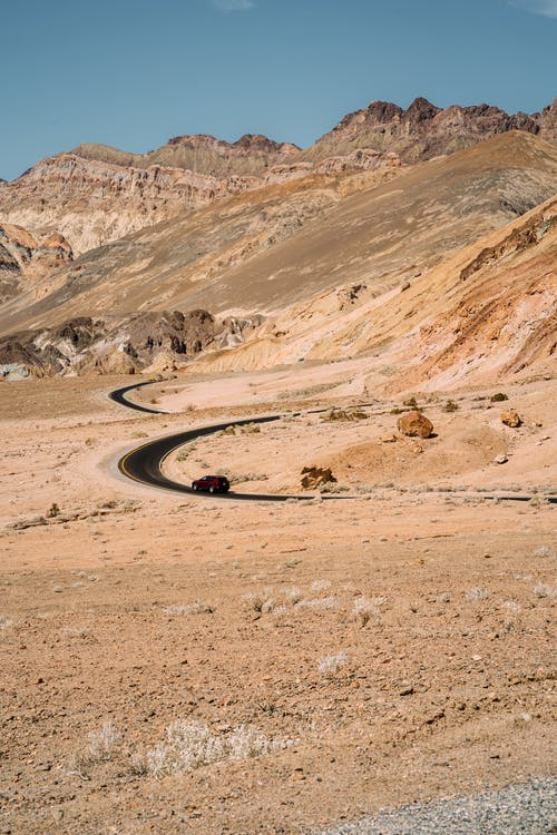 Road Passing Between Rocks
