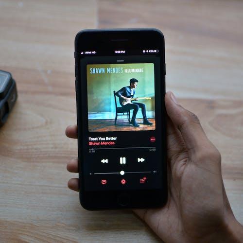 Free stock photo of apple music, dark mode, instagram