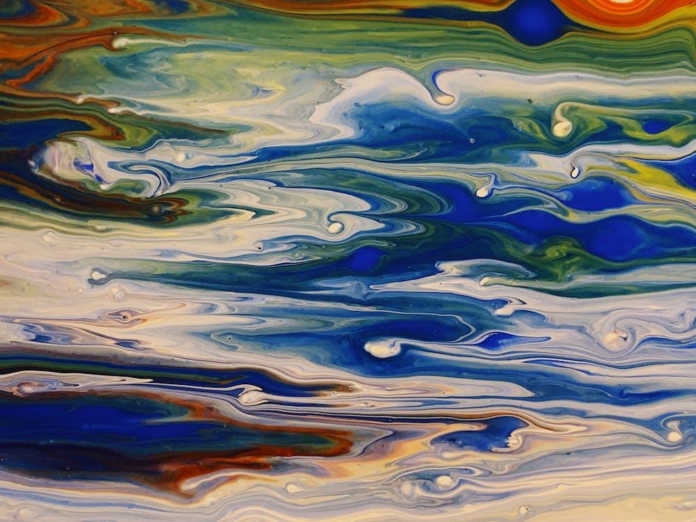 การทาสี, ความคิดสร้างสรรค์, งานศิลปะ