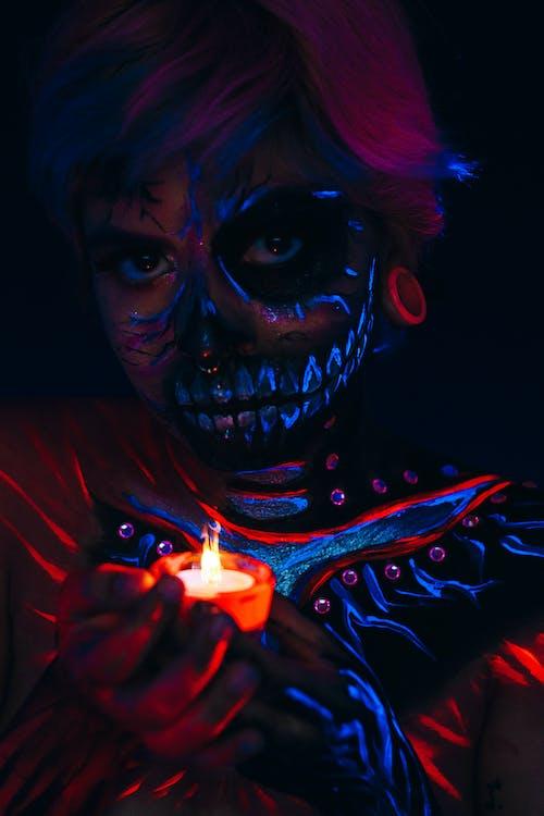 Darmowe zdjęcie z galerii z ciemny, fantasy, farba do twarzy, festiwal