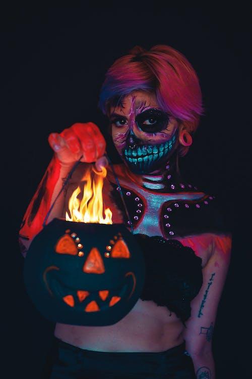 アート, かぼちゃ, コスチューム, ダークの無料の写真素材
