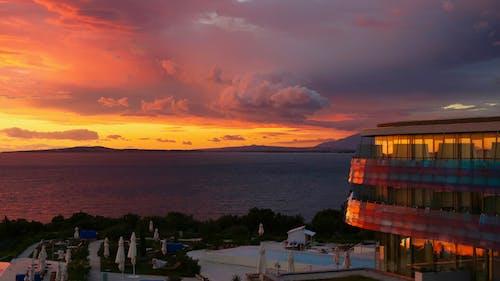 Free stock photo of a beautiful view, balcony, Beautiful sunset, cloud