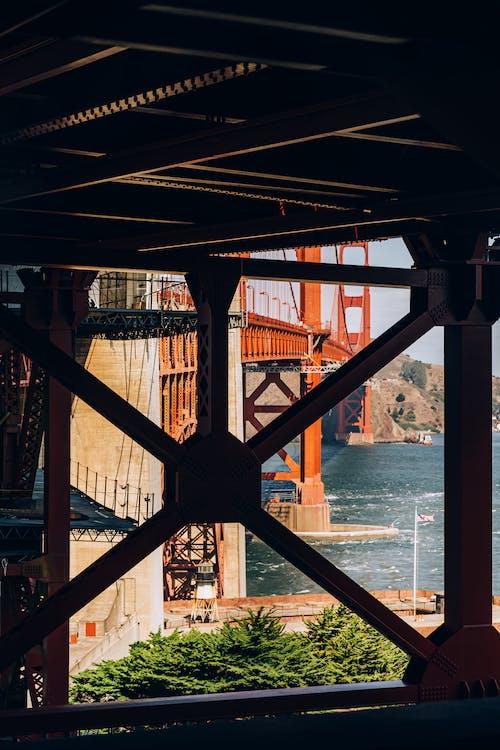 Shallow Focus Photo of Red Bridge