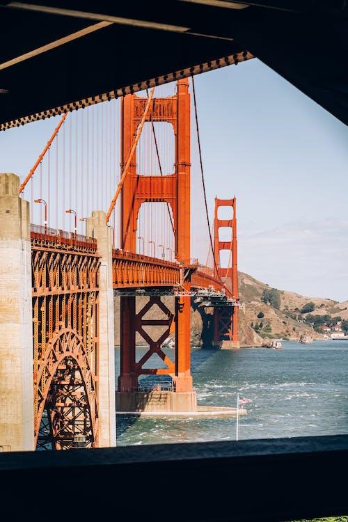 ゴールデンゲートブリッジ, サンフランシスコ, つり橋, ブリッジの無料の写真素材