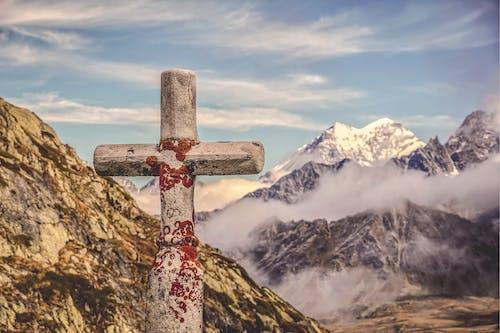 Photos gratuites de alpes, chaîne de montagnes, ciel, croix
