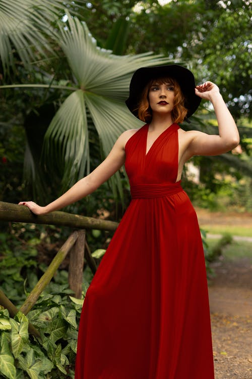 Photo Of Woman Wearing Red Dress