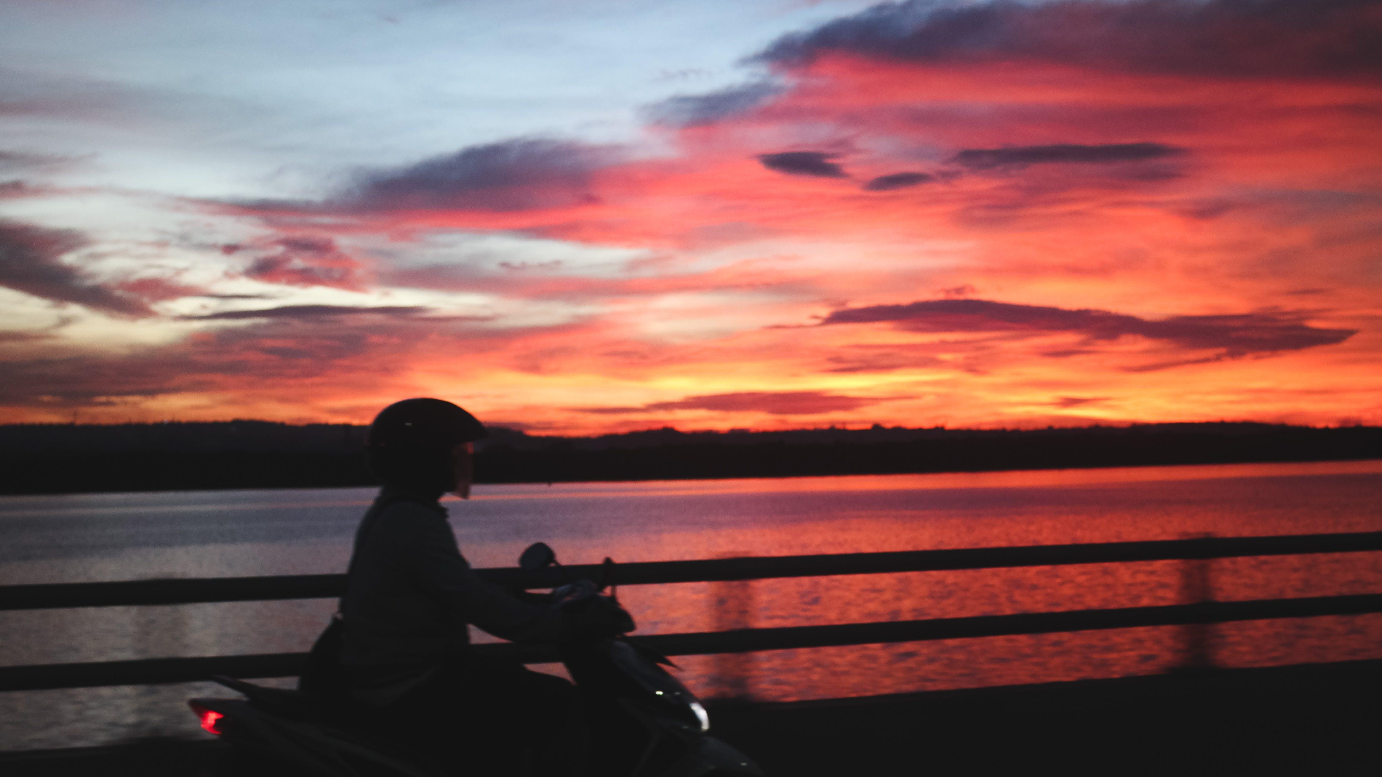 Free stock photo of bike, sunset