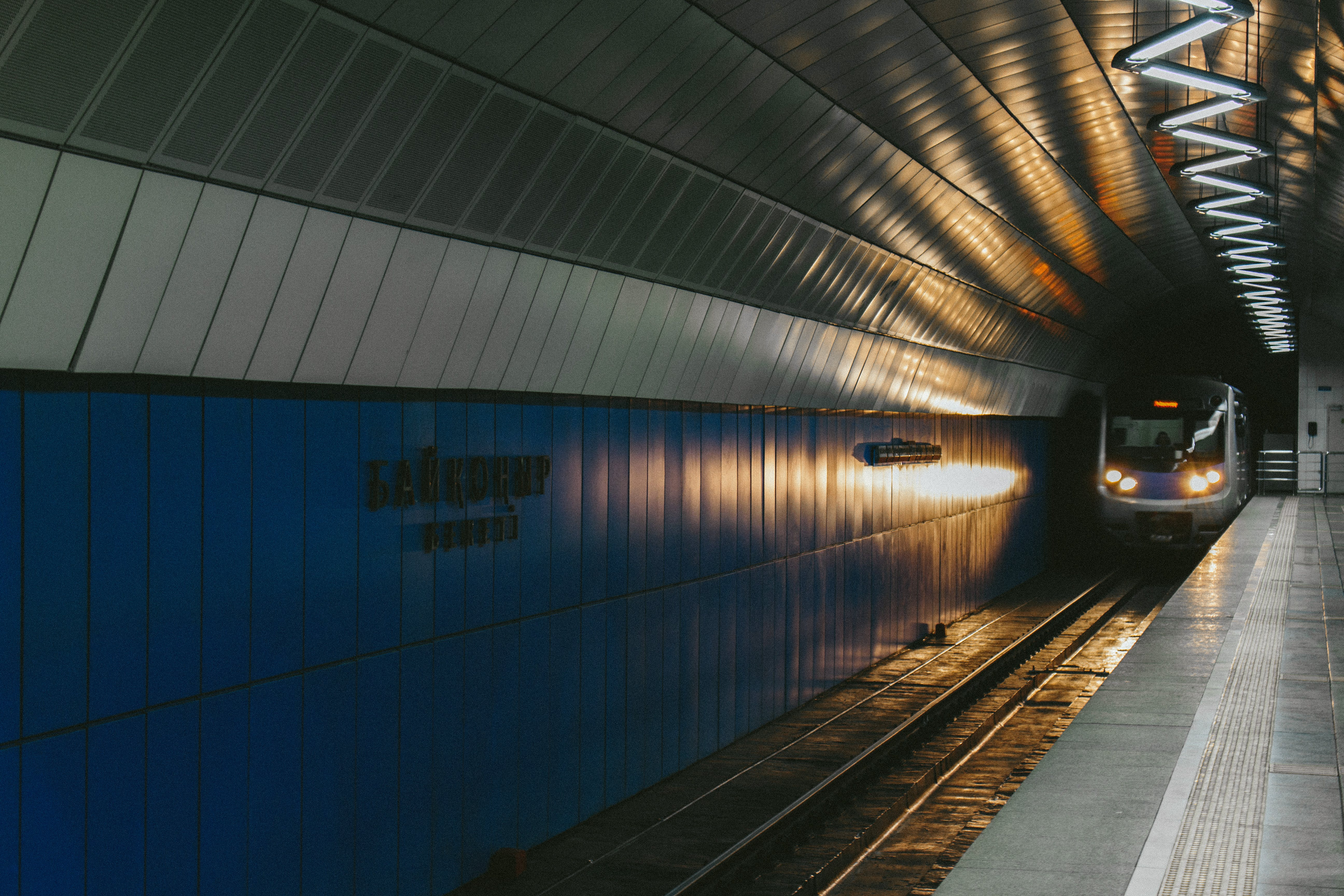 Free stock photo of lights, subway, subway platform, subway station