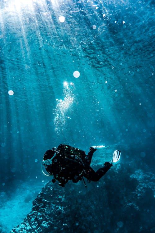 äventyr, blå, djup