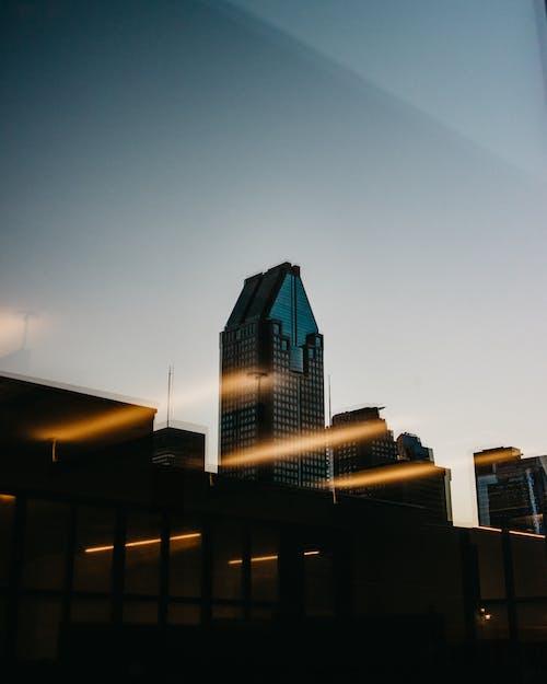 剪影, 城市, 城市的燈光, 城市的燈光 的 免費圖庫相片