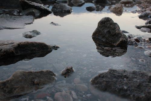 Free stock photo of light reflections, reflection, rocks