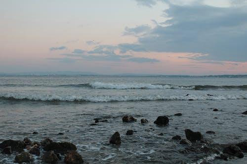 Free stock photo of rocks, water, waves breaking