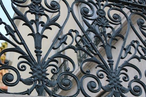 Free stock photo of architectural design, gate, iron