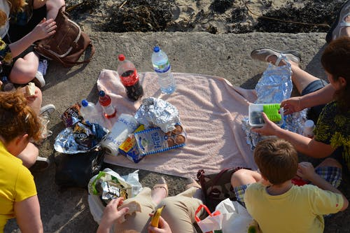 Free stock photo of beach, british, family, picnic