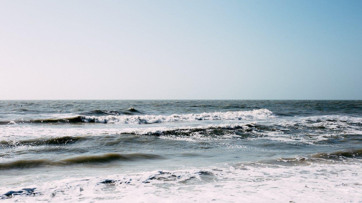 берег, вода, волны